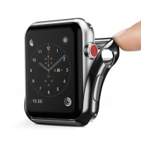 Силиконов калъф кейс DUX DUCIS за Apple Watch series 2/3 42 mm ,Черен