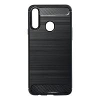 Силиконов калъф кейс Forcell Carbon за Samsung A20s, черен