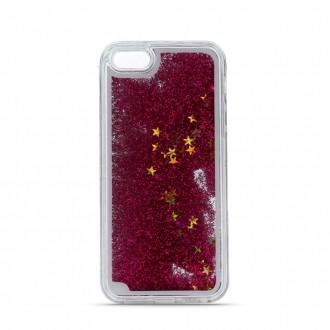 Силиконов калъф кейс Glitter за Samsung A40 с течен гел червен