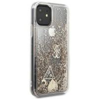 Силиконов калъф кейс Guess GUHCN61GLHFLGO iPhone 11 gold Glitter Hearts