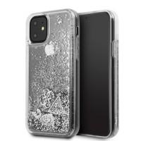 Силиконов калъф кейс Guess GUHCN61GLHFLSI iPhone 11 ,Silver