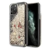 Силиконов калъф кейс Guess GUHCN65GLHREGO iPhone 11 Pro Max ,gold Glitter Hearts