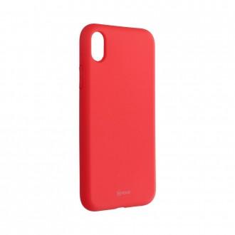 Силиконов калъф кейс Jelly Roar Colorful за iPhone XR, Peach Pink
