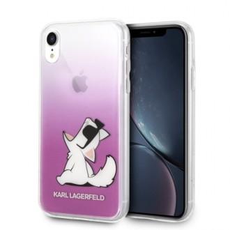 Силиконов калъф кейс Karl Lagerfeld KLHCI61CFNRCPI за iPhone XR ,Choupette Fun