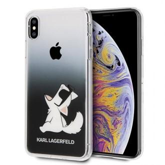 Силиконов калъф кейс Karl Lagerfeld KLHCI65CFNRCBK за iPhone XS Max ,Choupette Fun