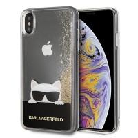 Силиконов калъф кейс Karl Lagerfeld KLHCI65CHPEEGO за iPhone XS Max ,гел златен