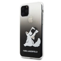 Силиконов калъф кейс Karl Lagerfeld KLHCN58CFNRCBK iPhone 11 Pro hard case Choupette Fun черен