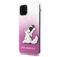 Силиконов калъф кейс Karl Lagerfeld KLHCN58CFNRCPI iPhone 11 Pro hard case Choupette Fun розов