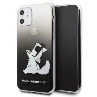Силиконов калъф кейс Karl Lagerfeld KLHCN61CFNRCBK Choupette Fun за iPhone 11 ,черен