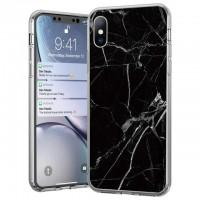Силиконов калъф кейс Marble за iPhone 11 ,Черен