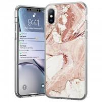 Силиконов калъф кейс Marble за Samsung Galaxy A40 ,Розов