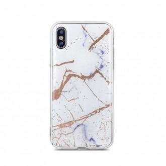 Силиконов калъф кейс Мрамор за Huawei Y6 2018 бял