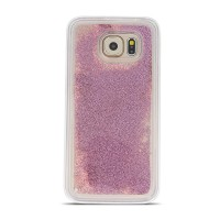 Силиконов калъф кейс Pearl за Samsung A40 с течен гел , розово злато