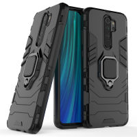 Силиконов калъф кейс Ring Armor Kickstand magnetic car holder Tough Rugged Cover за Xiaomi Redmi Note 8 Pro, черен