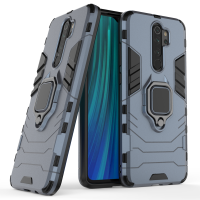 Силиконов калъф кейс Ring Armor Kickstand magnetic car holder Tough Rugged Cover за Xiaomi Redmi Note 8 Pro, син