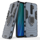 Силиконов калъф кейс Ring Armor Kickstand magnetic car holder Tough Rugged Cover за Xiaomi Redmi Note 8 Pro, син