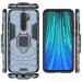 Силиконов калъф кейс Ring Armor Kickstand magnetic car holder Tough Rugged Cover за Xiaomi Redmi Note 8 Pro, син 4