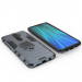 Силиконов калъф кейс Ring Armor Kickstand magnetic car holder Tough Rugged Cover за Xiaomi Redmi Note 8 Pro, син 2