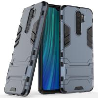 Силиконов калъф кейс Ring Armor Kickstand за Xiaomi Redmi Note 8 Pro, син