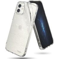 Силиконов калъф кейс Ringke Air GLITTER, За iPhone 12 mini, Прозрачен