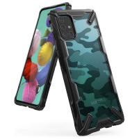 Силиконов калъф кейс Ringke FUSION X Army ,За Samsung A71 ,черен