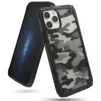 Силиконов калъф кейс Ringke FUSION X, За iPhone 12 / iPhone 12 Pro, Черен Camo