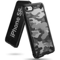 Силиконов калъф кейс Ringke FUSION X, За iPhone SE 2020 / iPhone 8 / iPhone 7, Черен Camo