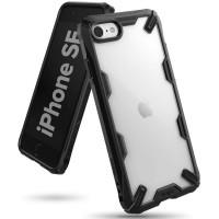 Силиконов калъф кейс Ringke FUSION X, За iPhone SE 2020 / iPhone 8 / iPhone 7, Черен