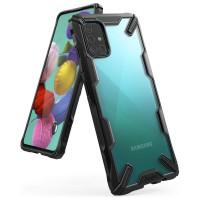 Силиконов калъф кейс Ringke FUSION X ,За Samsung A71 ,черен