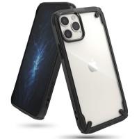 Силиконов калъф кейс Ringke FUSION, За iPhone 12 / iPhone 12 Pro, Черен