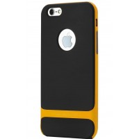 Силиконов калъф кейс Rock Royce case за iPhone 6 Plus / 6S Plus ,Черен-жълт