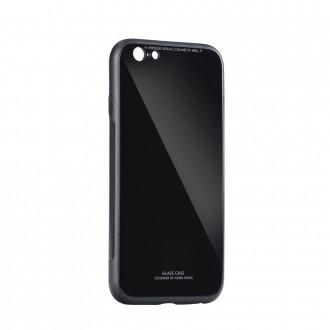Силиконов калъф кейс със стъклен гръб за Huawei Honor 9 Lite черен