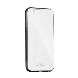 Силиконов калъф кейс със стъклен гръб за iPhone XS Max бял