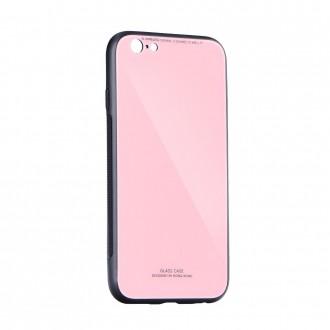Силиконов калъф кейс със стъклен гръб за Samsung A50 розов