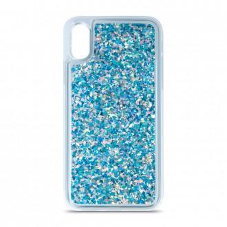 Силиконов калъф кейс Sparkle за Samsung A40 с течен гел, син