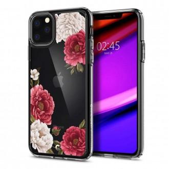 Силиконов калъф кейс Spigen Ciel Red Floral за iPhone 11 Pro прозрачен