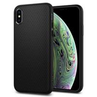 Силиконов калъф кейс Spigen Liquid Air за iPhone XS MaX ,черен