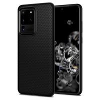 Силиконов калъф кейс Spigen Liquid Air за Samsung Galaxy S20 Ultra Matte Black