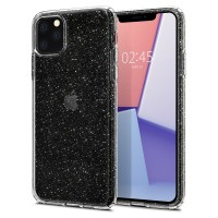 Силиконов калъф кейс Spigen Liquid Crystal Glitter за iPhone 11 Pro прозрачен