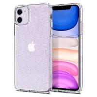 Силиконов калъф кейс Spigen Liquid Crystal Glitter за iPhone 11 прозрачен