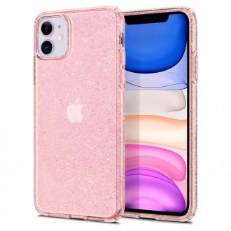 Силиконов калъф кейс Spigen Liquid Crystal Glitter за iPhone 11 розов