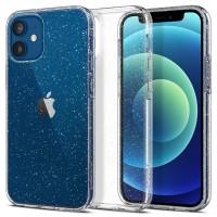 Силиконов калъф кейс Spigen Liquid Crystal Glitter за iPhone 12 mini, прозрачен