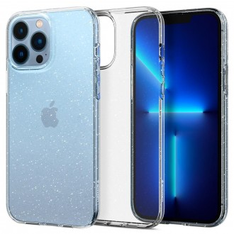 Силиконов калъф кейс Spigen Liquid Crystal Glitter за iPhone 13 Pro Max, прозрачен