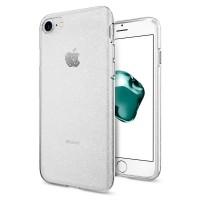 Силиконов калъф кейс Spigen Liquid Crystal Glitter за iPhone 7/8 прозрачен