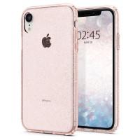 Силиконов калъф кейс Spigen Liquid Crystal Glitter за iPhone XR розов