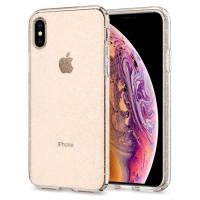 Силиконов калъф кейс Spigen Liquid Crystal Glitter за iPhone XS / X прозрачен