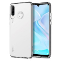 Силиконов калъф кейс Spigen Liquid Crystal Huawei P30 Lite, прозрачен
