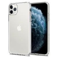 Силиконов калъф кейс Spigen Liquid Crystal за iPhone 11 Pro Max ,прозрачен