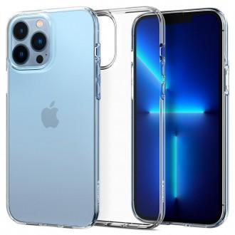 Силиконов калъф кейс Spigen Liquid Crystal за iPhone 13 Pro, прозрачен