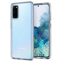 Силиконов калъф кейс Spigen Liquid Crystal за Samsung Galaxy S20 , прозрачен